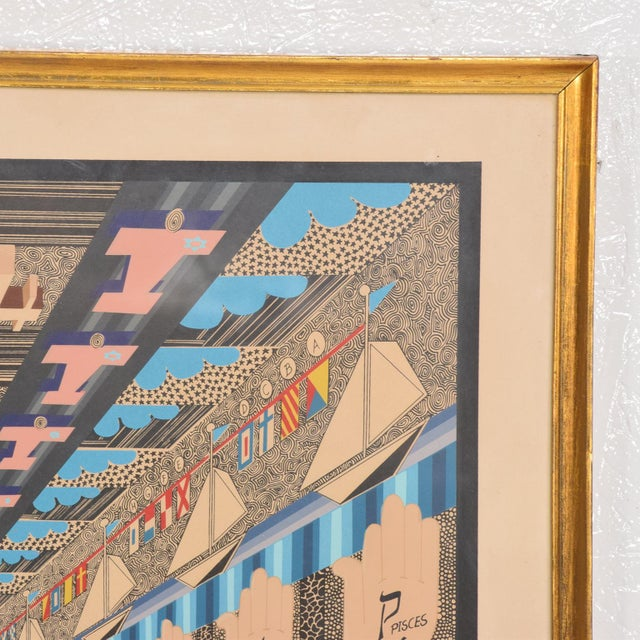 Paper Vintage Pedro Friedeberg Lithograph Signed in Pencil A. P. 6/10 For Sale - Image 7 of 8