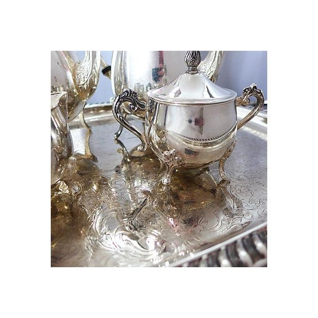 Vintage Five-Piece Silver Plate Tea & Coffee Set - Image 5 of 7