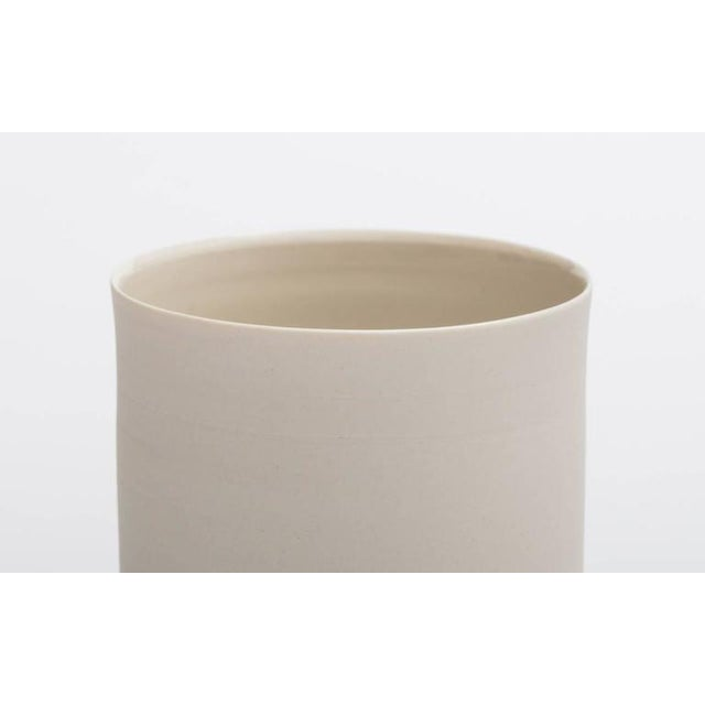 Not Yet Made - Made To Order Contemporary Surface White Porcelain & Brushed Brass Flush Mount Ceiling Light For Sale - Image 5 of 9