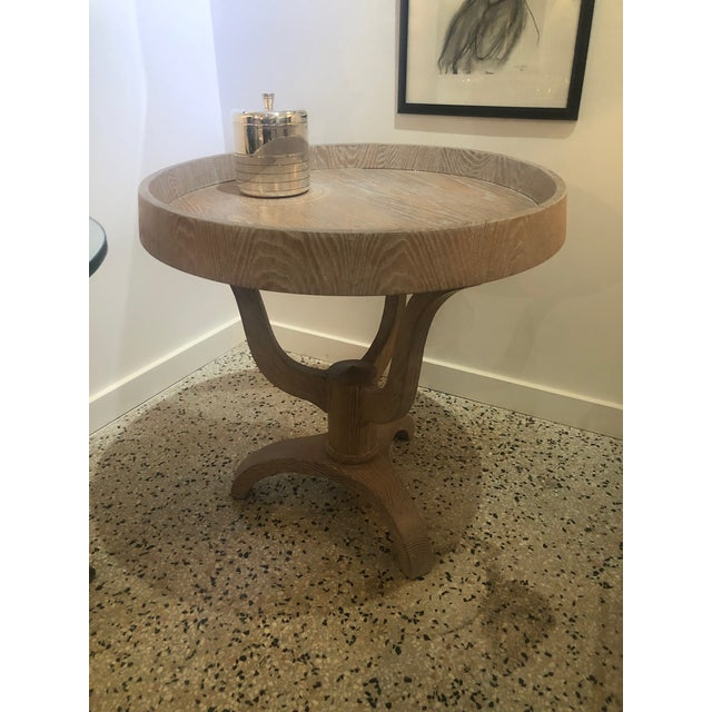 Wood Rose Tarlow for Melrose House Side Tray Table Restored and Cerused For Sale - Image 7 of 11