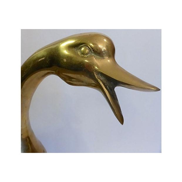 Large Brass Duck - Image 5 of 6
