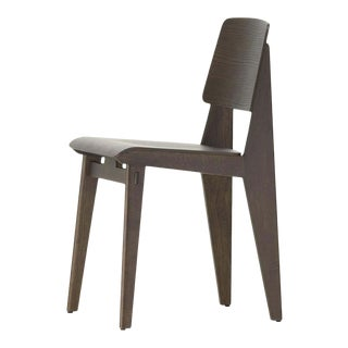 "Jean Prouvé ""Chaise Tout Bois"" Chair in Dark Oak for Vitra For Sale"