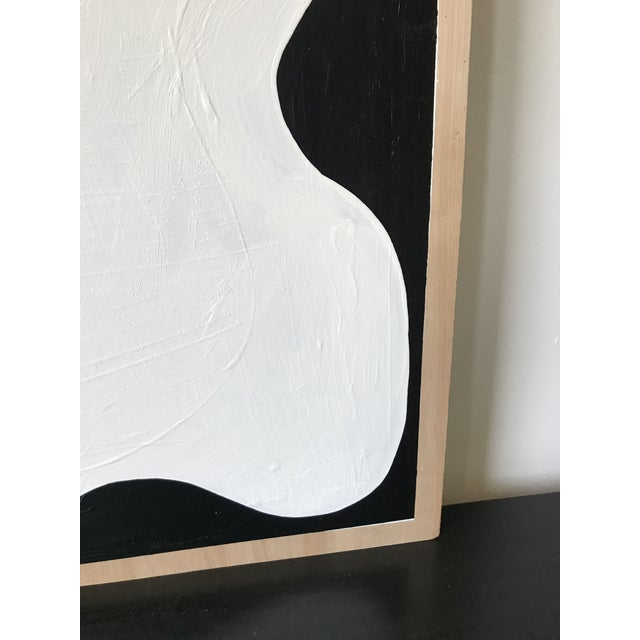 2010s Abstract Acrylic Diptych Painting of Black and White Flower by Hannah Polskin For Sale - Image 5 of 9