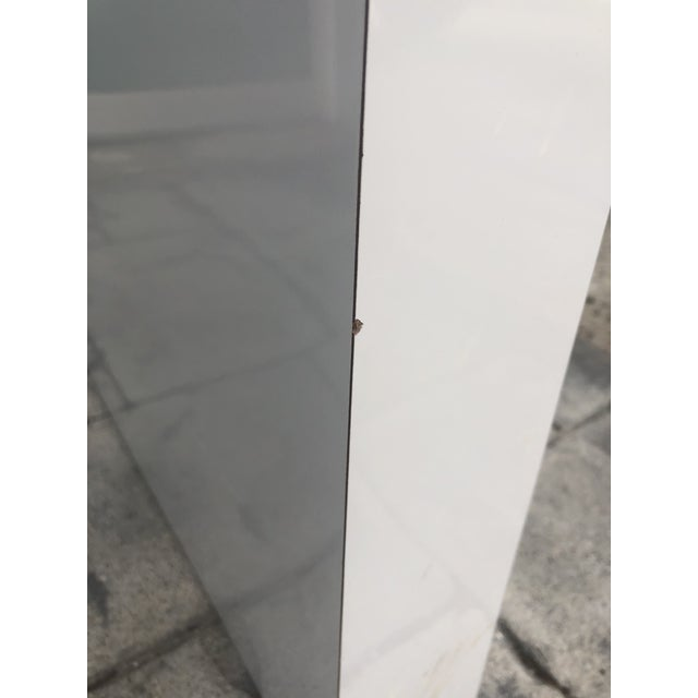 1980s Contemporary Gray Laminate Waterfall Desk For Sale In Los Angeles - Image 6 of 10