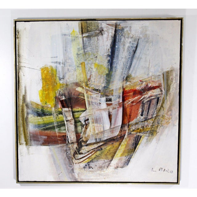 Mid Century Modern Framed Mixed Media Acrylic Abstract Painting by Ljubo Biro For Sale - Image 11 of 11