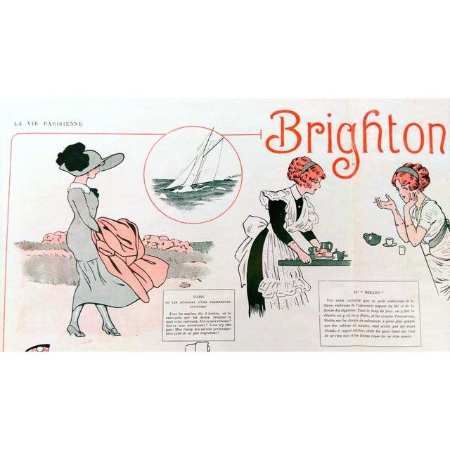 "1910 La Vie Parisienne ""Brighton Beach"" Print - Image 2 of 7"