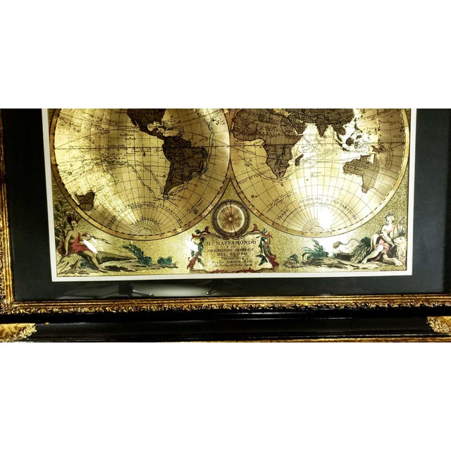 1774 Gold Foil Double Hemisphere World Map Antonio Zatta - Bonus Added! For Sale In Los Angeles - Image 6 of 9