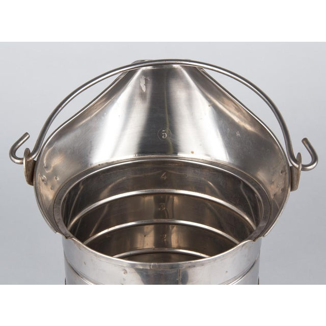1950s French Silver Metal Measuring Milk Pitcher For Sale - Image 11 of 13