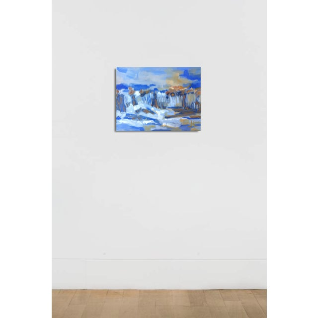 Painting of a landscape designed with impressionism. This piece has painted edges and is ready to hang. The tones of this...