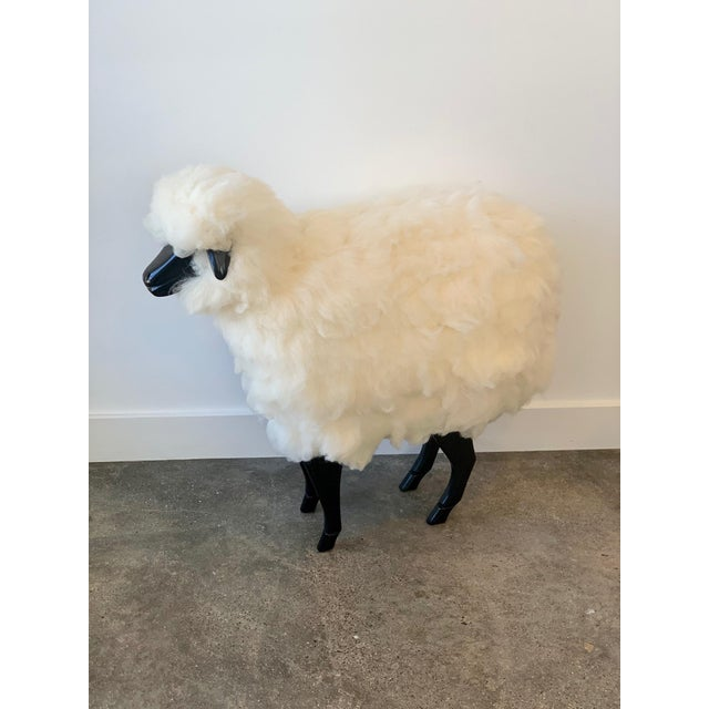 Claude Lalanne Wool Sheep Stool For Sale - Image 4 of 4