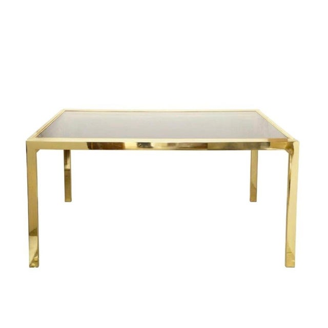 Metal Dia Extending Brass Dining Table For Sale - Image 7 of 7
