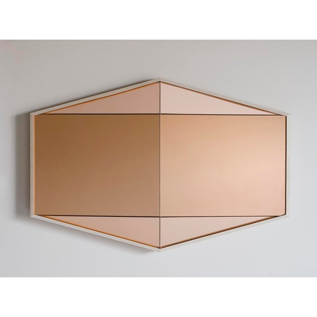 Not Yet Made - Made To Order Contemporary Gem Mirror Peach For Sale - Image 5 of 5