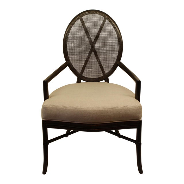 McGuire Barbara Barry Oval X Back Chair - Image 1 of 6