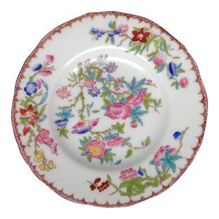Antique English Mintons Floral Butter Plates For Sale