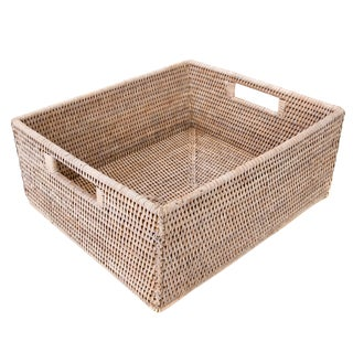 "Artifacts Rattan Rectangular Basket 14""x12""x6"" For Sale"