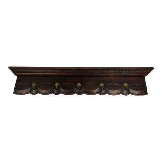 Late 19th Century Carved French Oak Hat Rack For Sale