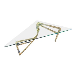 Italian Stylized Brass Cocktail Table