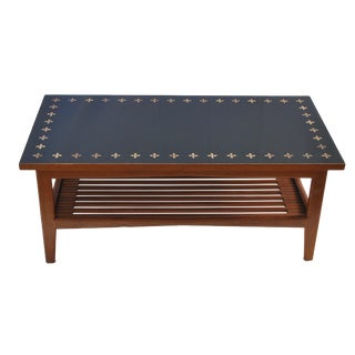Frank Rohloff Studios Inlaid Walnut Resin Coffee Table