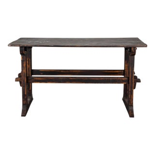 18th Century Swedish Trestle Table Circa 1780 For Sale