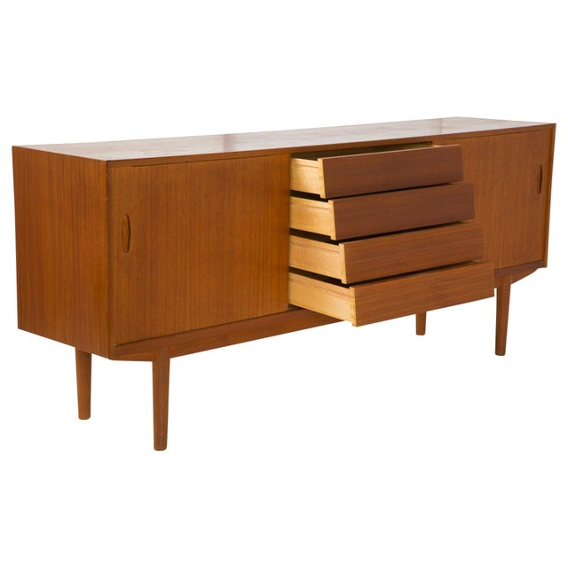 Nils Jonsson Danish Modern Louvered Credenza For Sale - Image 5 of 10