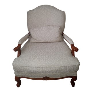 Lexington Traditional Upholstered Arm Chair For Sale