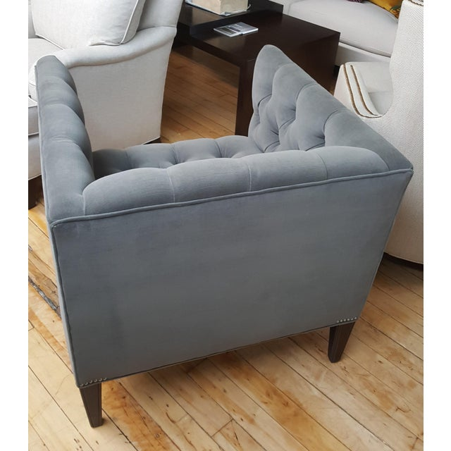 Wesley Hall Furniture Contemporary Wesley Hall Tufted Club Chair For Sale - Image 4 of 10