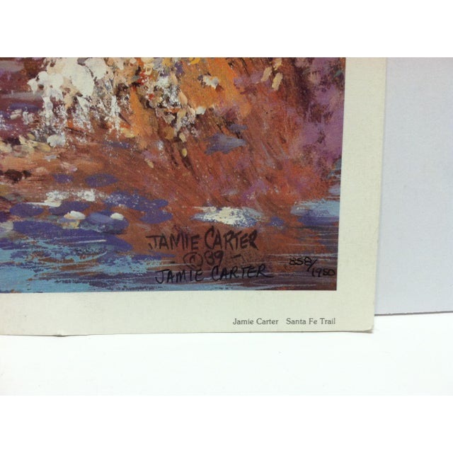 """1980s 1989 """"Sante Fe Trail"""" Jamie Carter Limited Edition Print For Sale - Image 5 of 6"""