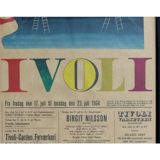 1960s 1964 Concert Poster From the Tivoli Gardens in Copenhagen, Denmark For Sale - Image 5 of 9
