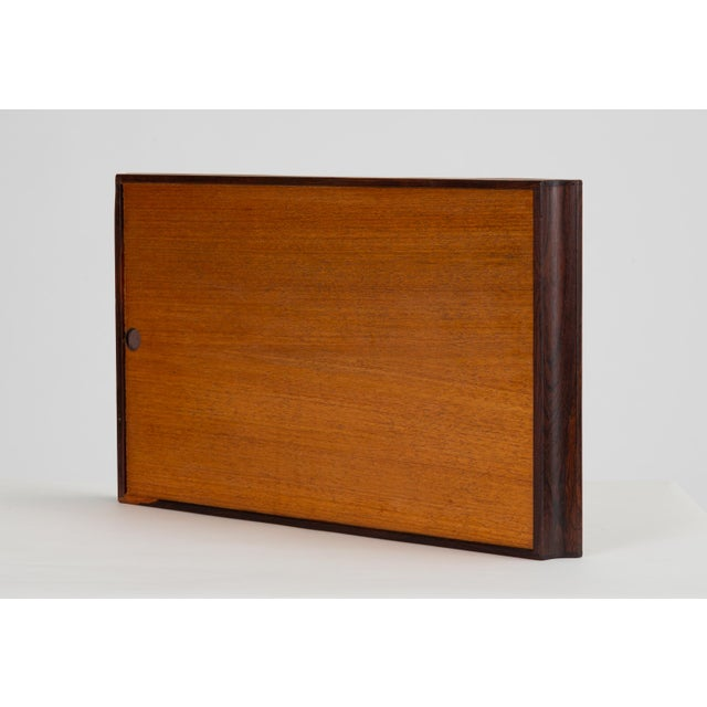 1960s Trompe L'oeil Rosewood Tray by Don Shoemaker for Señal For Sale - Image 5 of 10