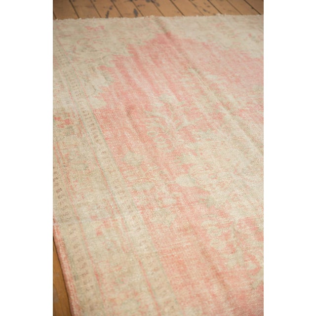 """Old New House Vintage Distressed Oushak Carpet - 6'2"""" X 10'8"""" For Sale - Image 4 of 13"""