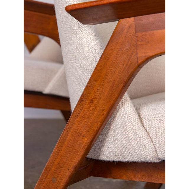 Spectacular American Walnut Armchairs- A Pair For Sale In New York - Image 6 of 11