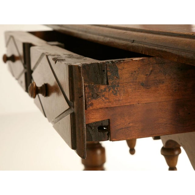 18th C. Antique French Fruitwood Writing Table For Sale - Image 10 of 11