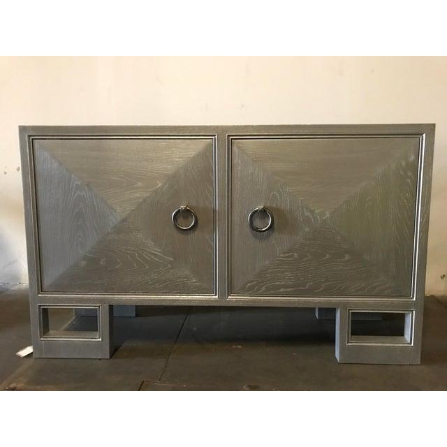 """Truex American Furniture Truex American Furniture """"St Regis Cabinet"""" Grey Oak Ceruse For Sale - Image 4 of 4"""