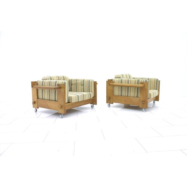 Mid-Century Modern Yngve Ekström Lounge Chairs in Oak for Swedese, Sweden 1960s For Sale - Image 3 of 9