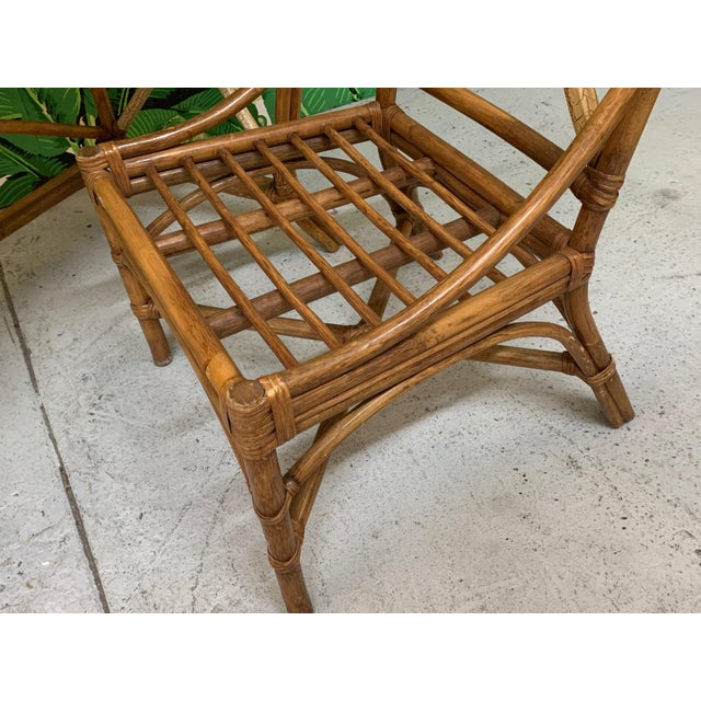 Mid Century Bamboo Desk and Chair For Sale - Image 10 of 13