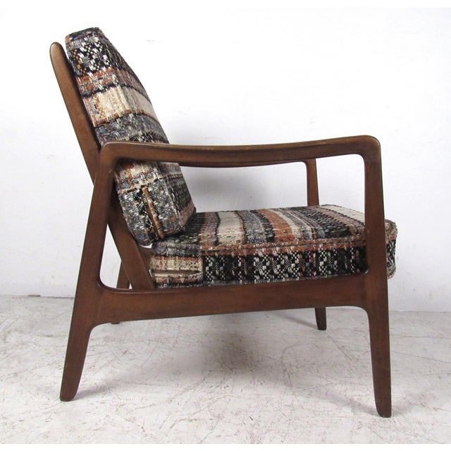 1960s Vintage Modern Ole Wanscher Lounge Chair With Ottoman by John Stuart For Sale - Image 5 of 13