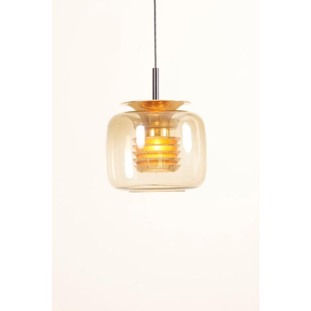 Gold 1960s Pendant Lamp in Manner of Hans-Agne-Jakobsson For Sale - Image 8 of 12