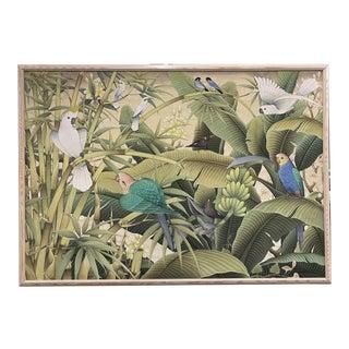 Signed Acrylic on Canvas Botanical For Sale
