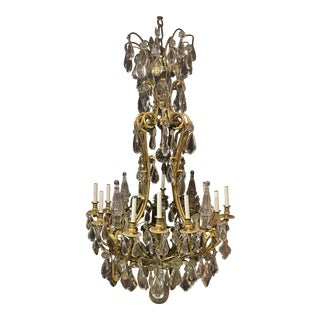 Late 19th Century Caldwell Gilt Bronze Chandelier For Sale