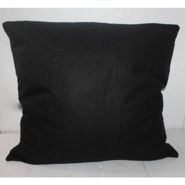 Adirondack Large Geometric Navajo Indian Weaving Pillow For Sale - Image 3 of 5