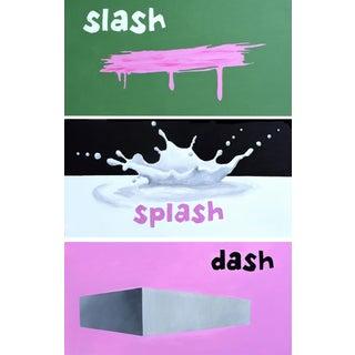 Slash, Splash & Dash Acrylic Triptych