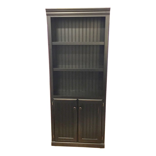 Distressed Black Bookcase - Image 1 of 5