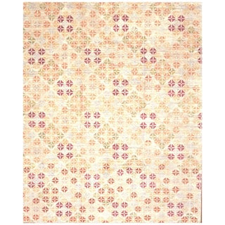 Surena Hand Knotted Wool Modern Design Area Rug- 10′ × 13′ For Sale