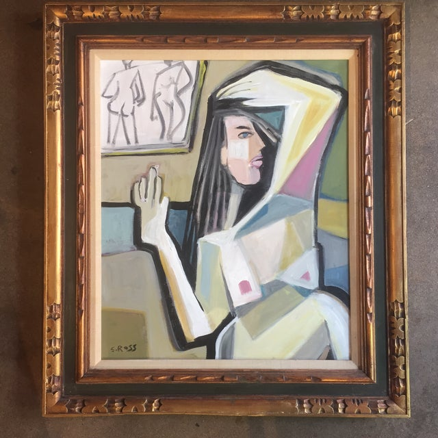 Original Stewart Ross Abstract Female Nude Painting For Sale In Philadelphia - Image 6 of 6