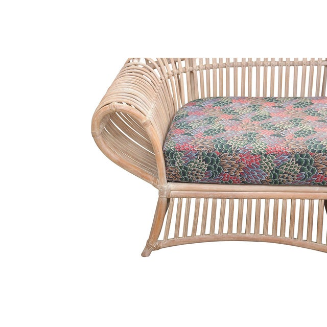 1960s Vintage Boho Chic Bamboo Sofa For Sale - Image 4 of 8