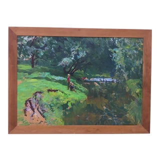 1990s Impressionist Oil Painting on Board by Piotr Ivanovich Kostinski For Sale