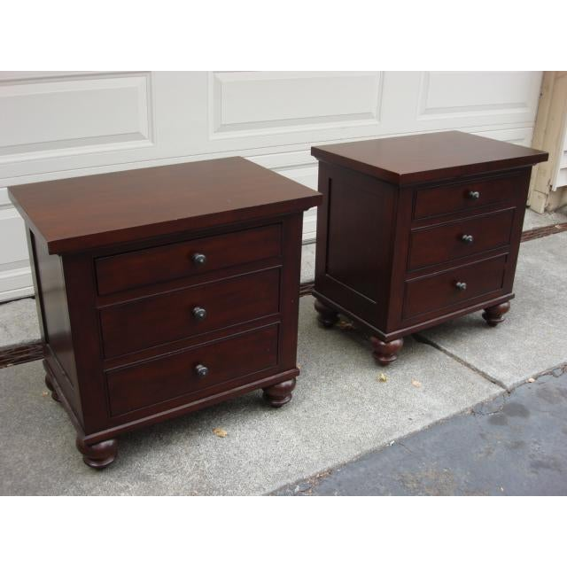 Traditional Restoration Hardware Camden Nightstands - A Pair For Sale - Image 3 of 8