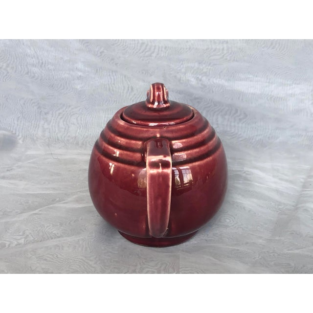 Vintage 1940s Usa Pottery Teapot For Sale - Image 4 of 13