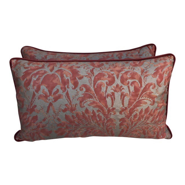 Lucrezia Patterned Fortuny Pillows - A Pair - Image 1 of 5