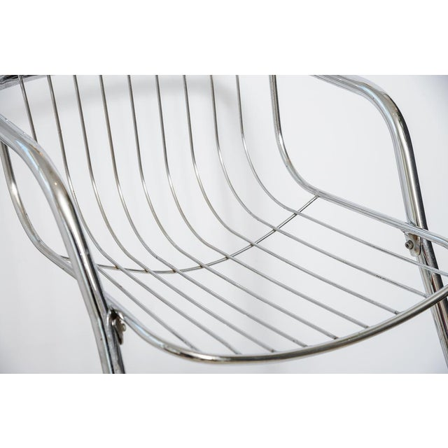 1970s Italian Tubular Chrome Cantilever Chairs - Set of 4 For Sale - Image 5 of 10